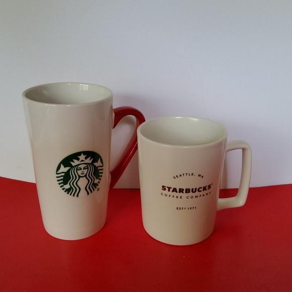 Lot of two Starbucks coffee mugs 2016,and 2020